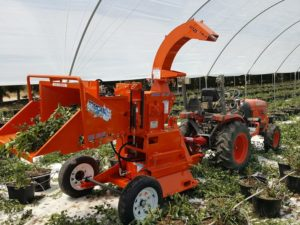 TOMCAT Wood Chippers in action on Blueberry Farm in South Africa