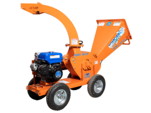 Gravity feed wood chipper product