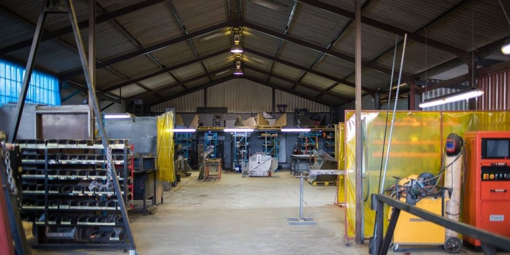 The main welding section of TOMCAT Manufacturing at the head office in Worcester, Western Cape